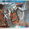 Moteris vedanti ožką, XX a, 2 p., litografija 9/50, 45x60 cm
