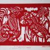 Žuvų turgus, 1969, linoraižinys, 9/150, 15x21 cm