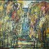 Beržynas, 1999, medžio plokštė, aliejus, 58x78 cm