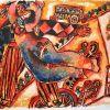 Gatvės šokiai, 20 a. 2 p., litografija 42/199, 68x92 cm